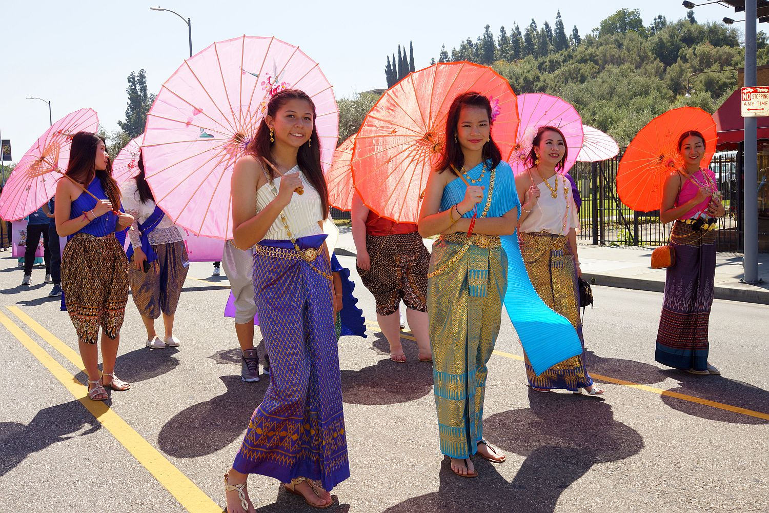 Las Vegas Thai Community at the Thai Songkran New Year Festival, Downtown LA 2018
